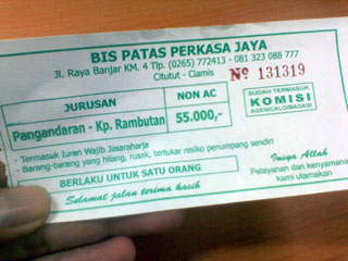 Jakarta – Pangandaran (Desa Emplak, Kalipucang)